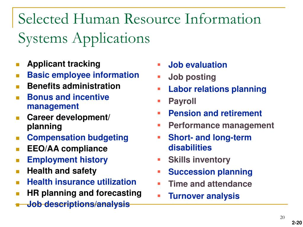 essay on human resource information systems