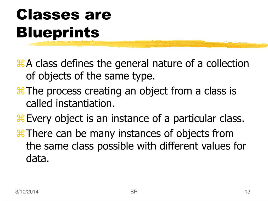 Classes are Blueprints