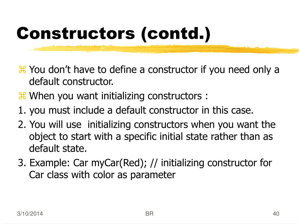 Constructors (contd.)