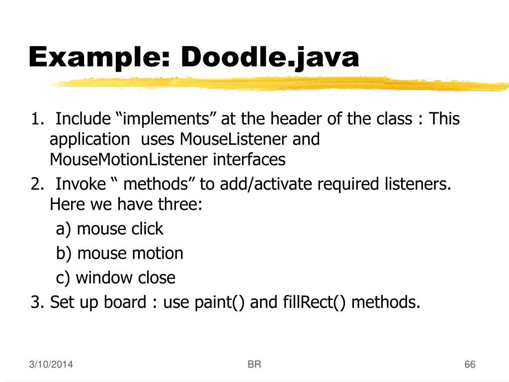 Example: Doodle.java
