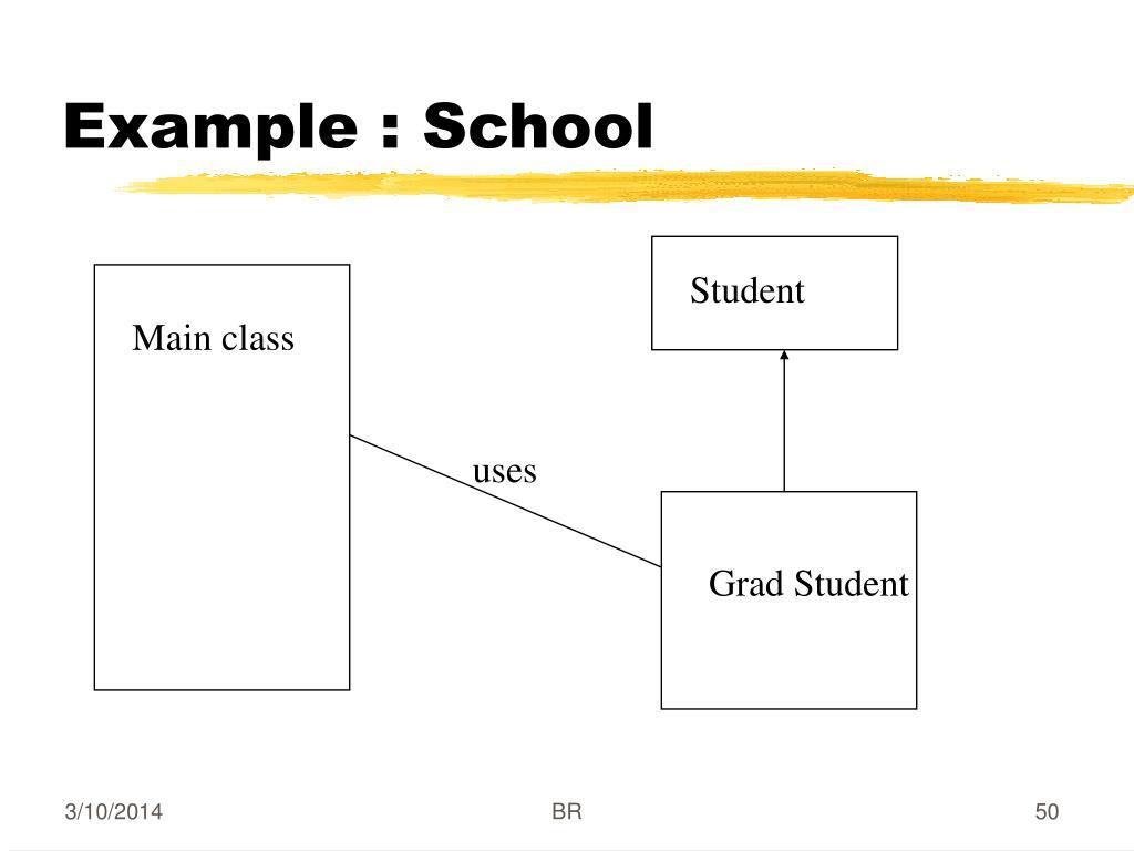 Example : School