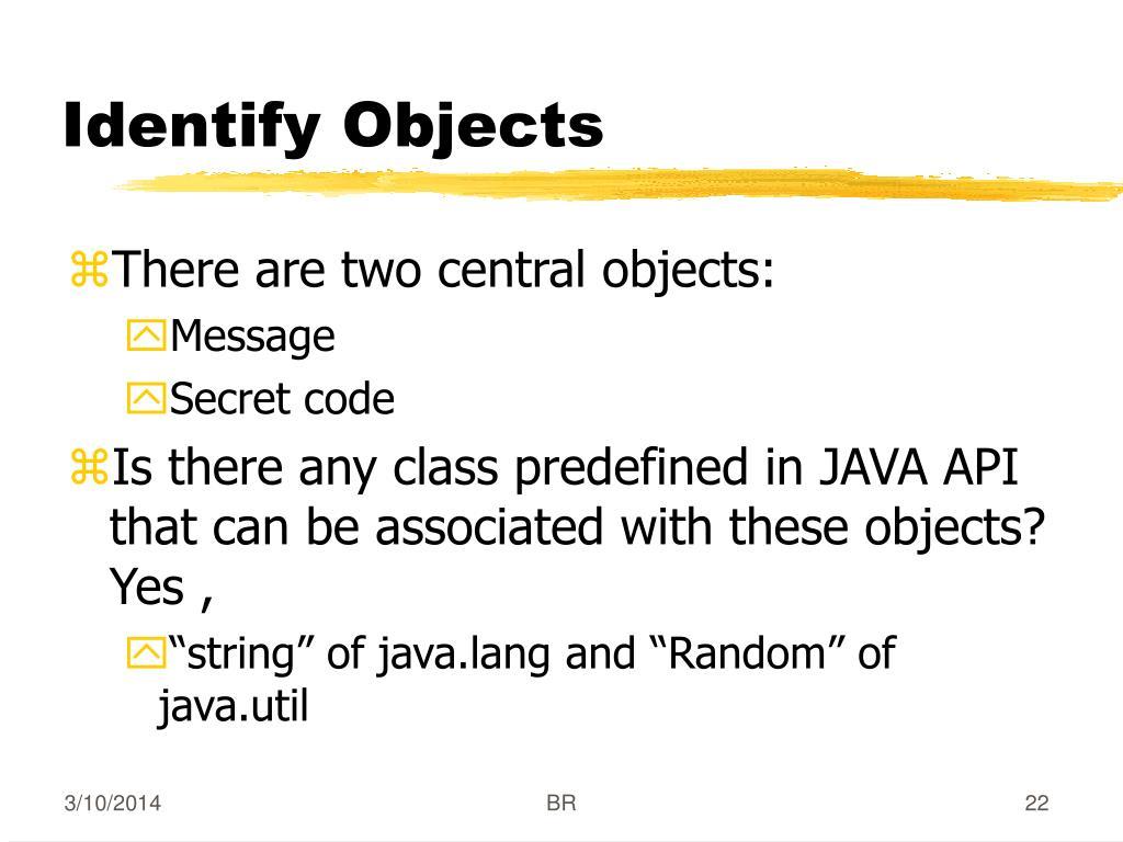 Identify Objects