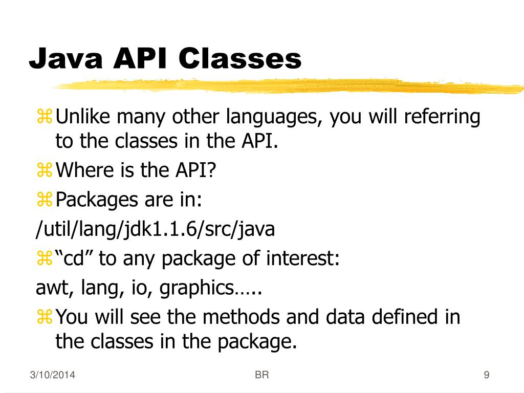 Java API Classes