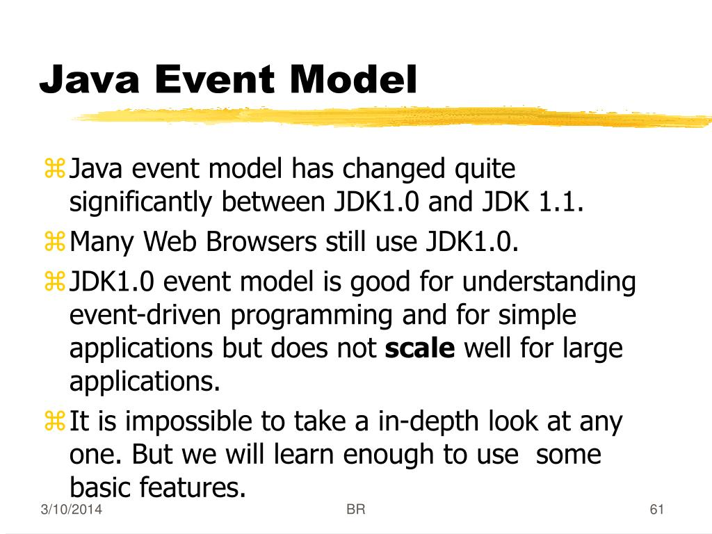 Java Event Model
