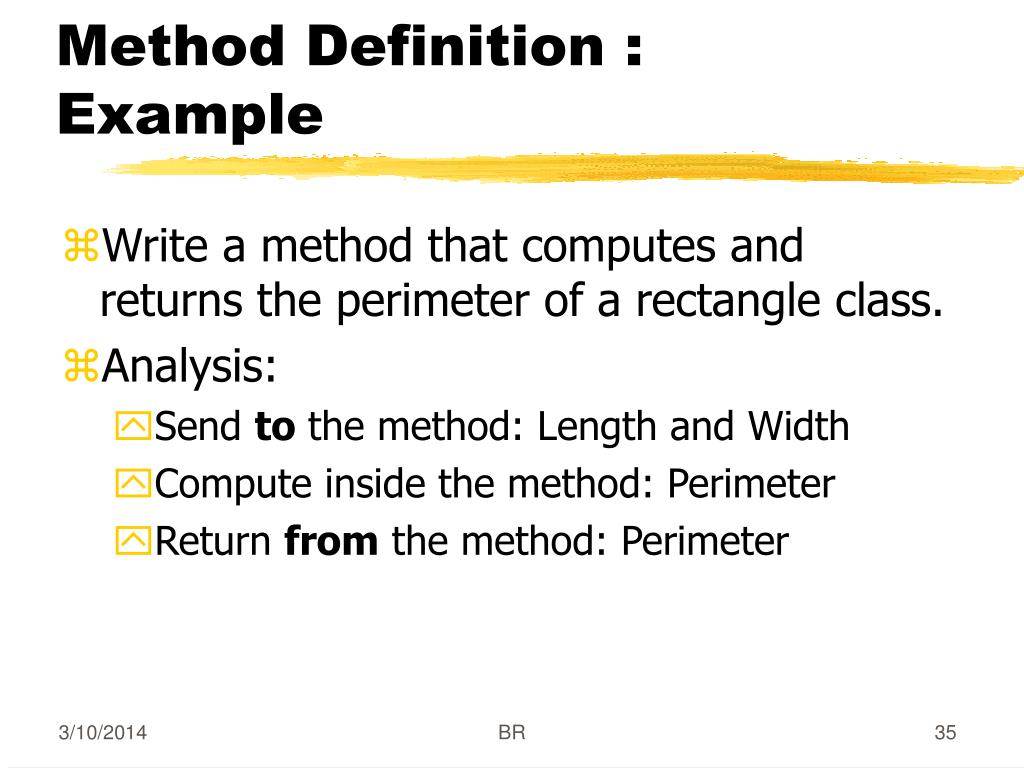 Method Definition : Example