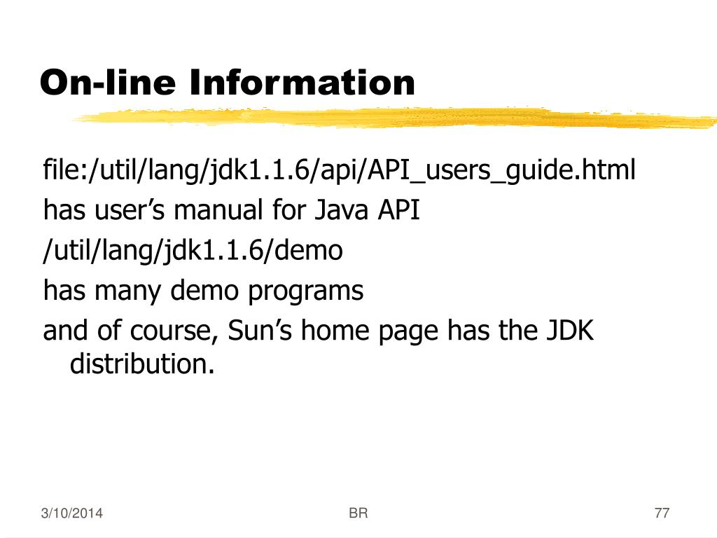 On-line Information