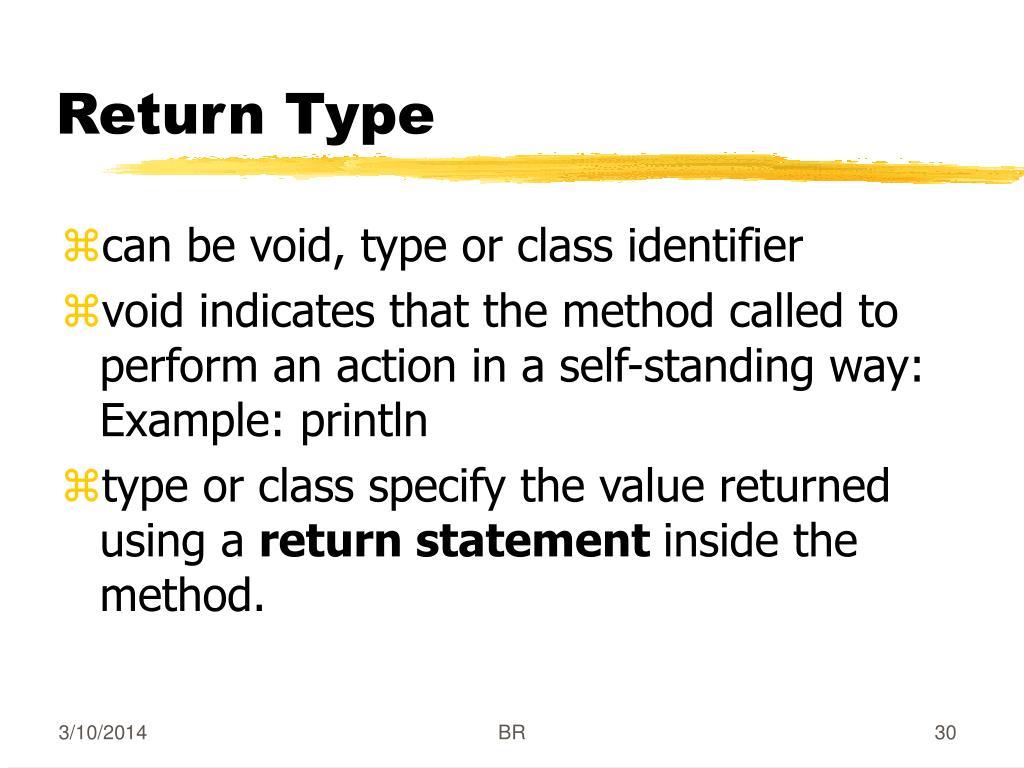 Return Type