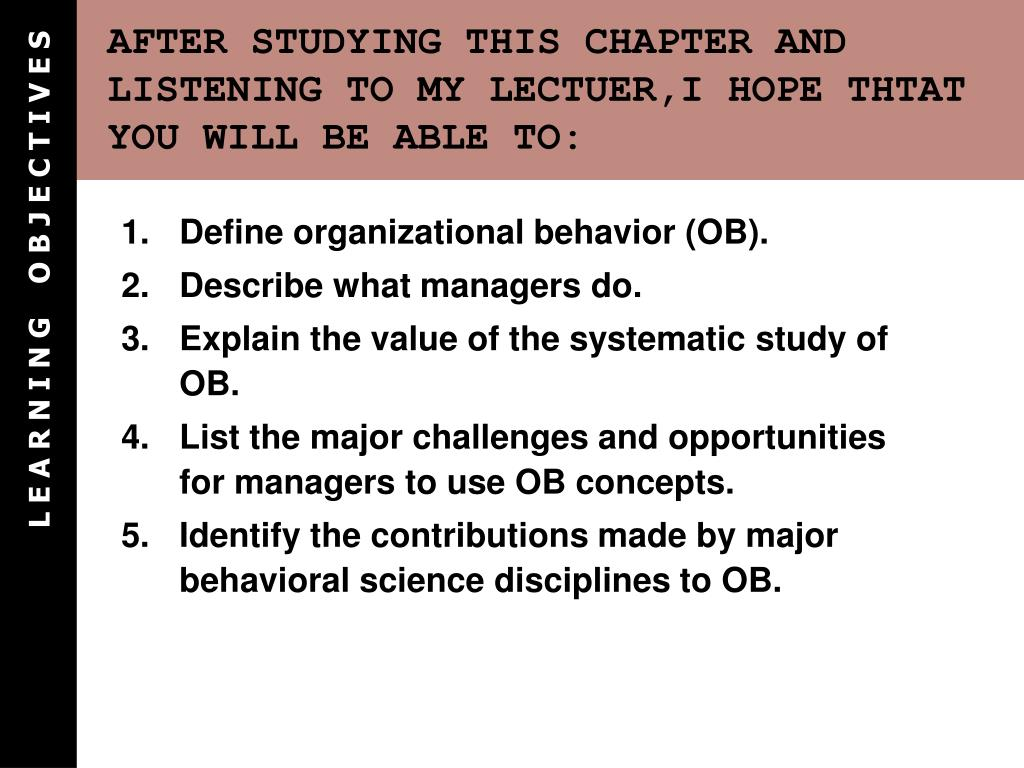 AFTER STUDYING THIS CHAPTER AND LISTENING TO MY LECTUER,I HOPE THTAT