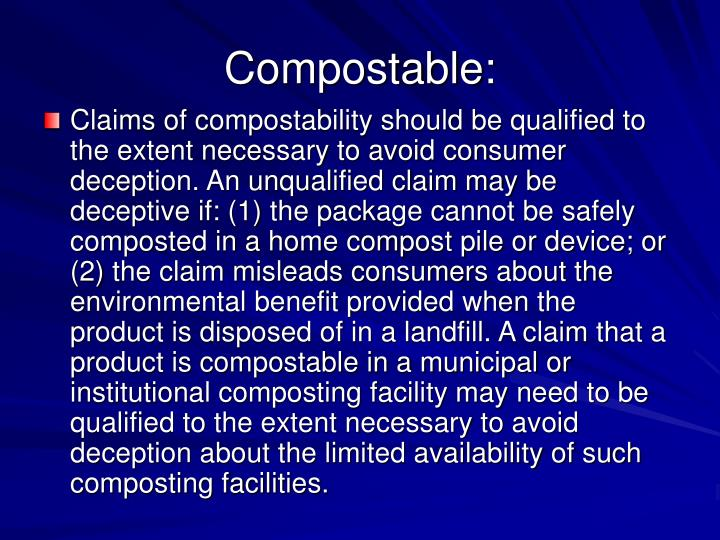 Compostable: