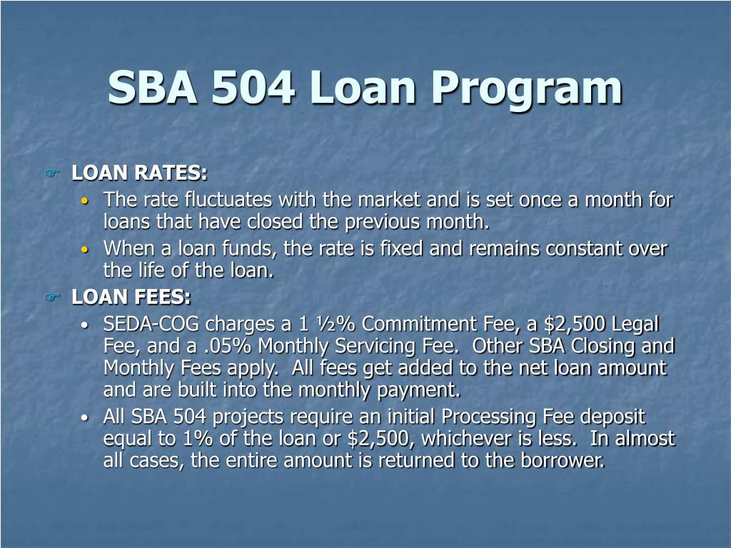 SBA 504 Loan Program