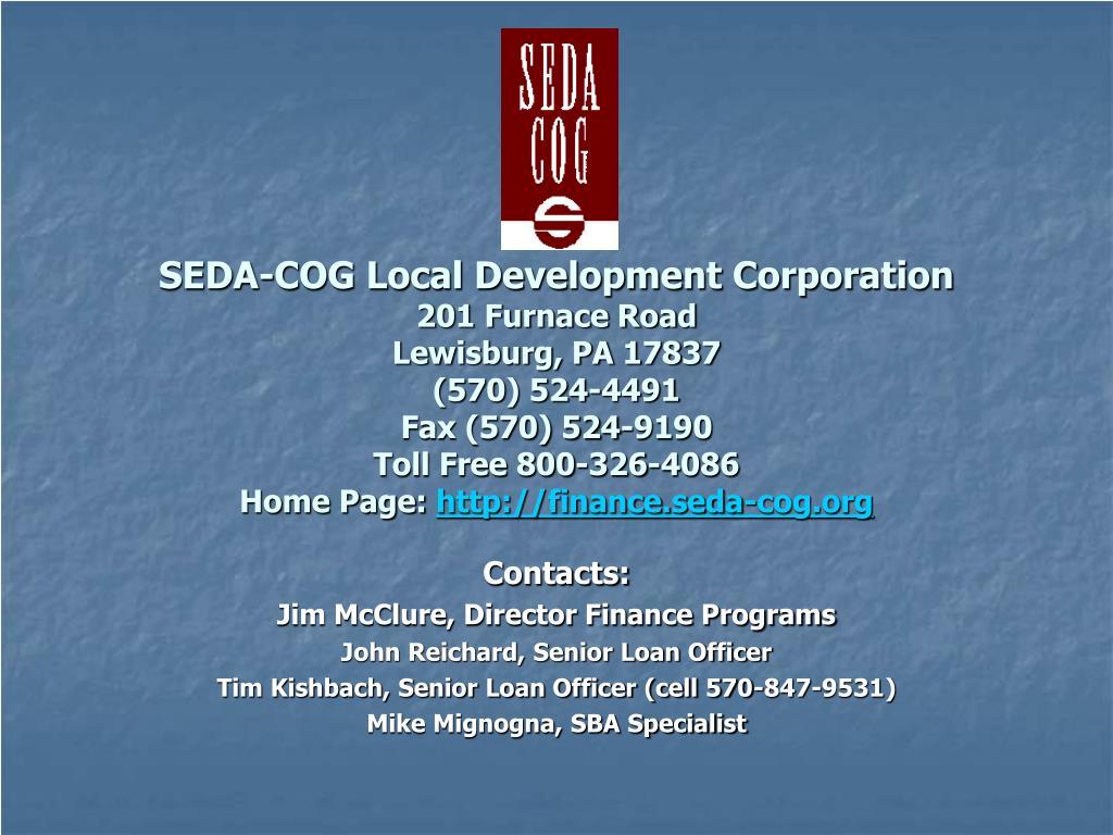 SEDA-COG Local Development Corporation