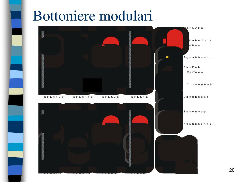 Bottoniere modulari