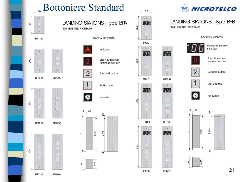 Bottoniere Standard