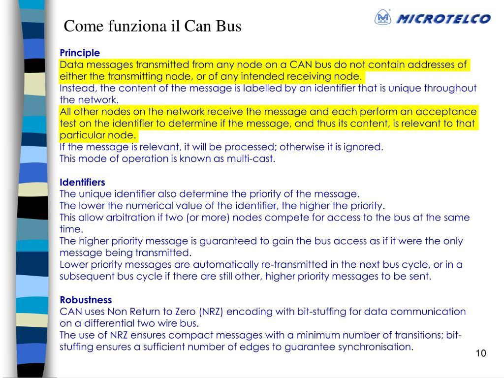 Come funziona il Can Bus