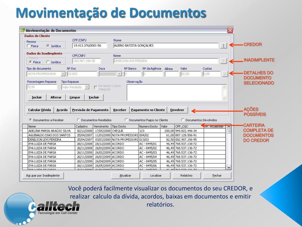 Movimentação de Documentos