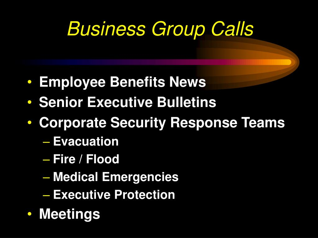 Business Group Calls