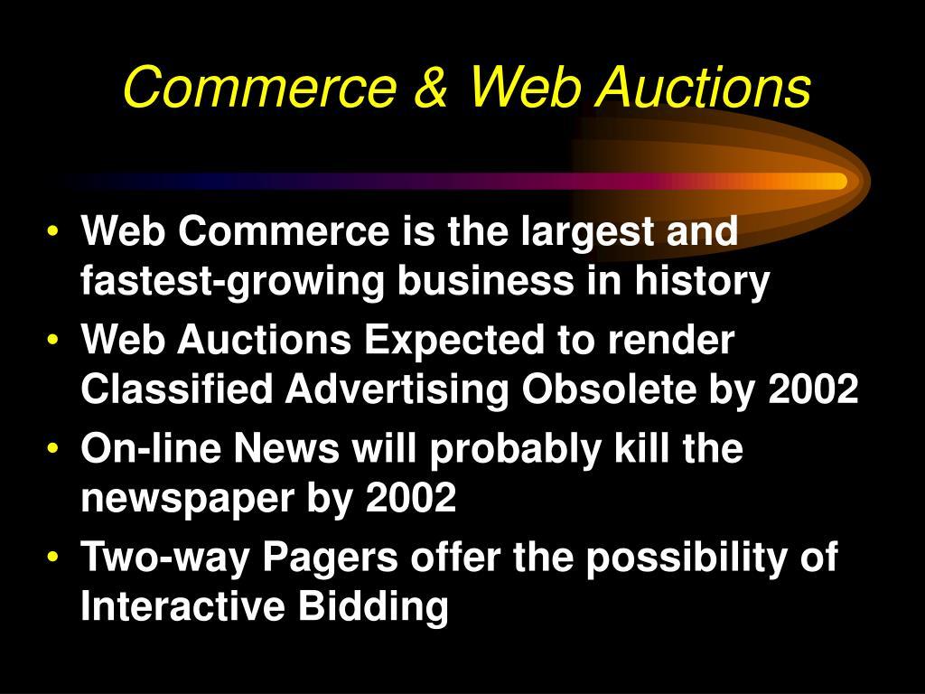 Commerce & Web Auctions