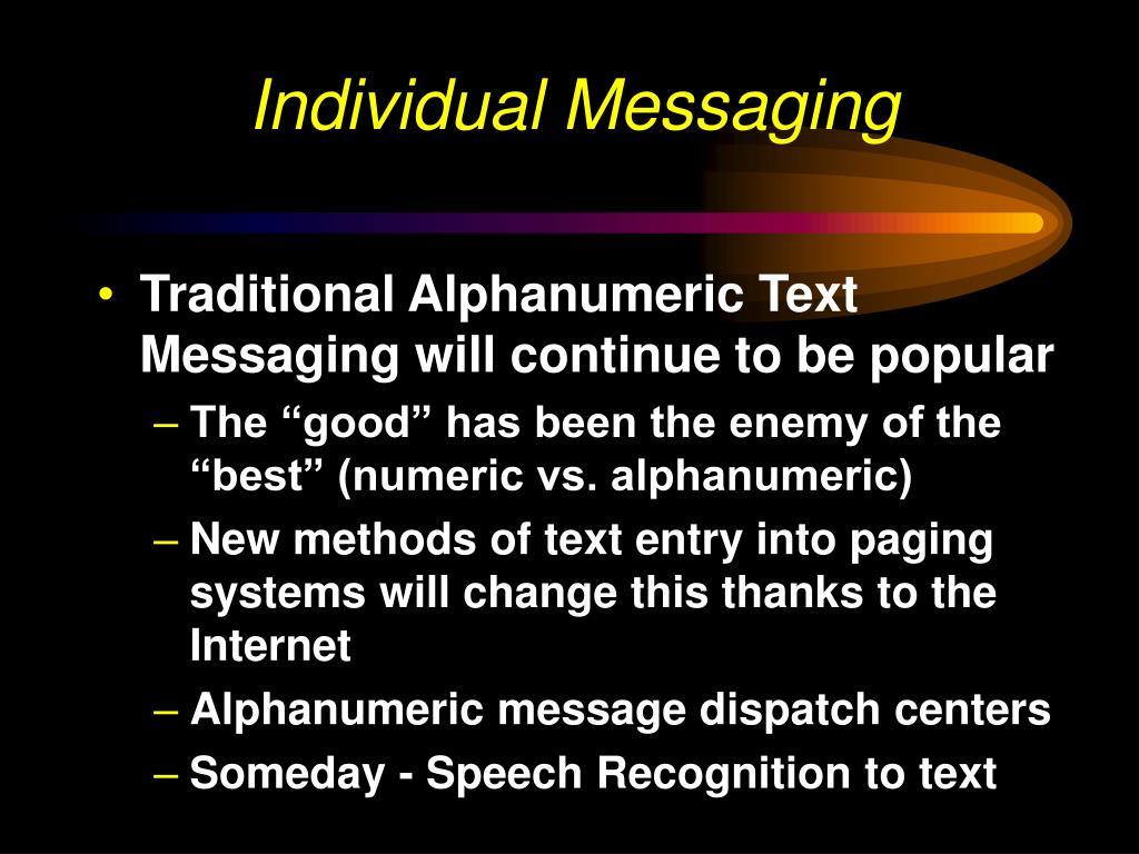 Individual Messaging