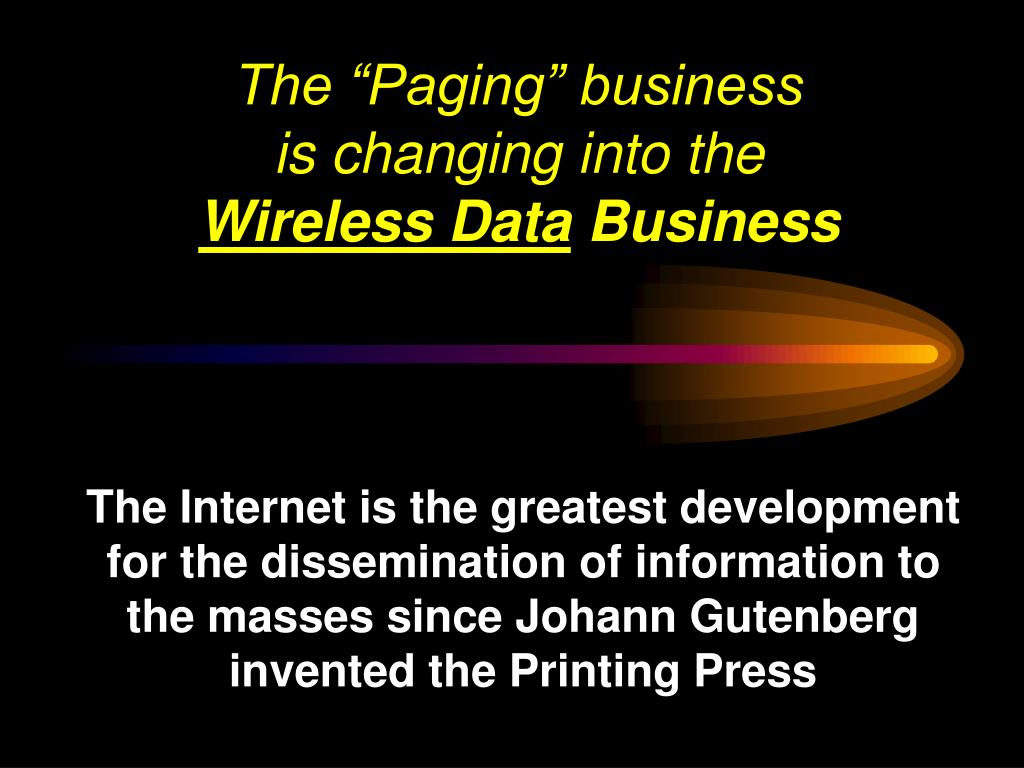 "The ""Paging"" business"