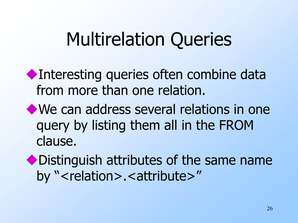Multirelation Queries