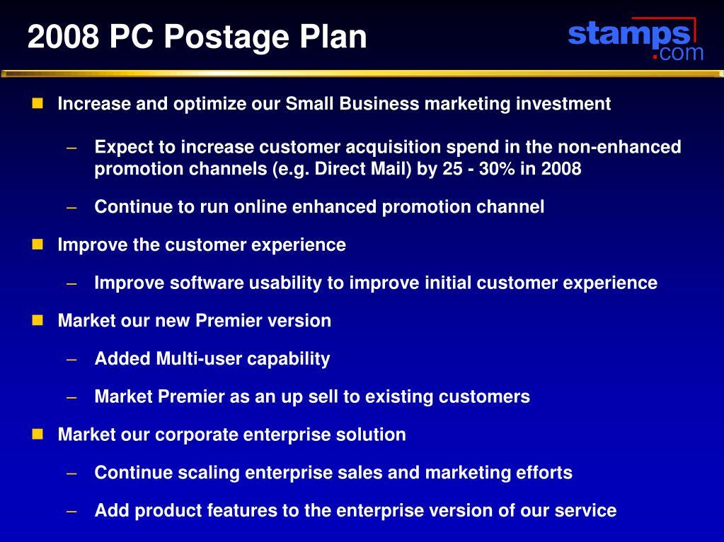 2008 PC Postage Plan