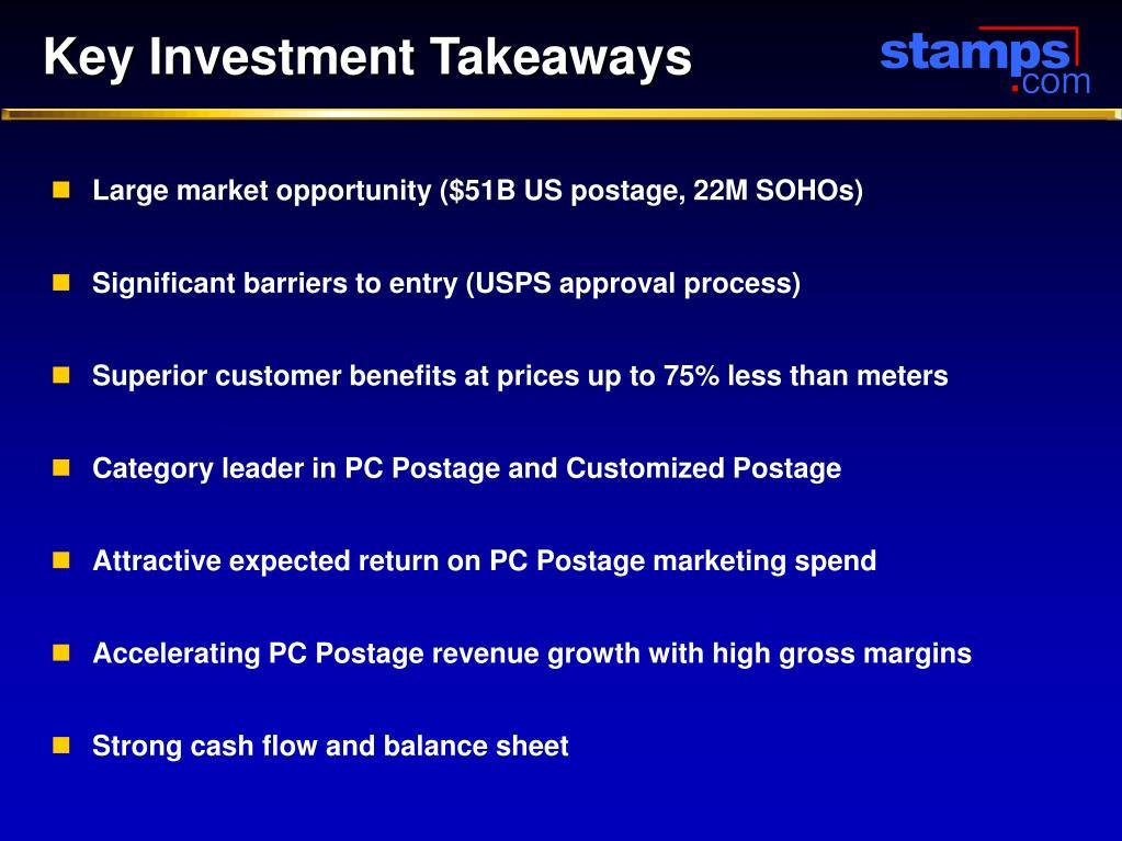 Key Investment Takeaways
