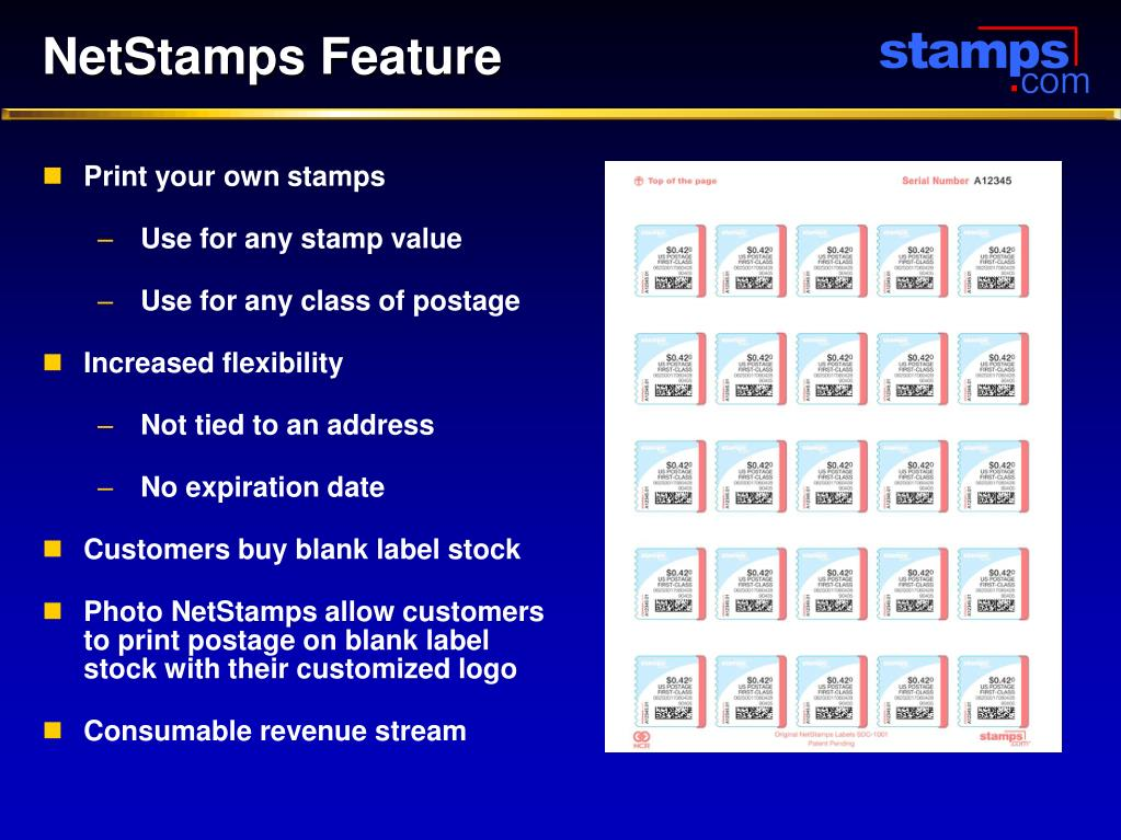 NetStamps Feature