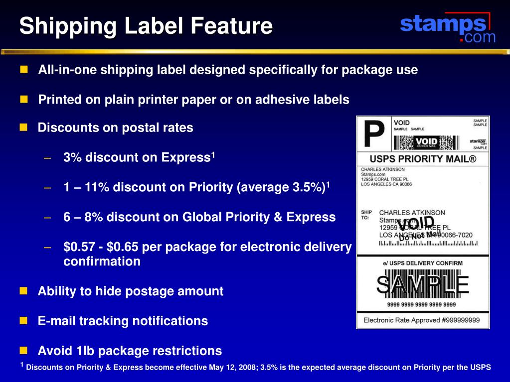 Shipping Label Feature
