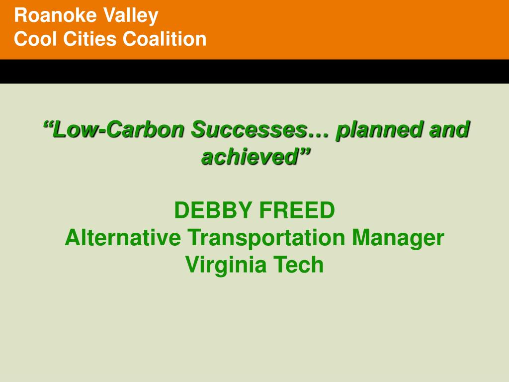 Roanoke Valley   Cool Cities Coalition