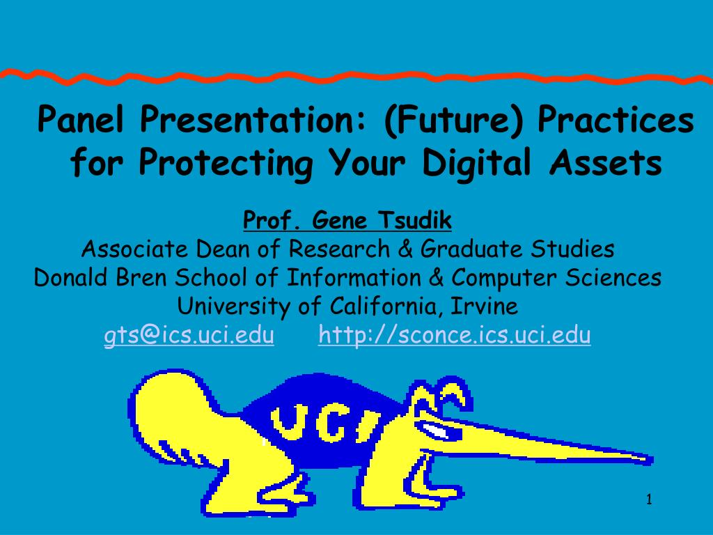 Panel Presentation: (Future) Practices for Protecting Your Digital Assets