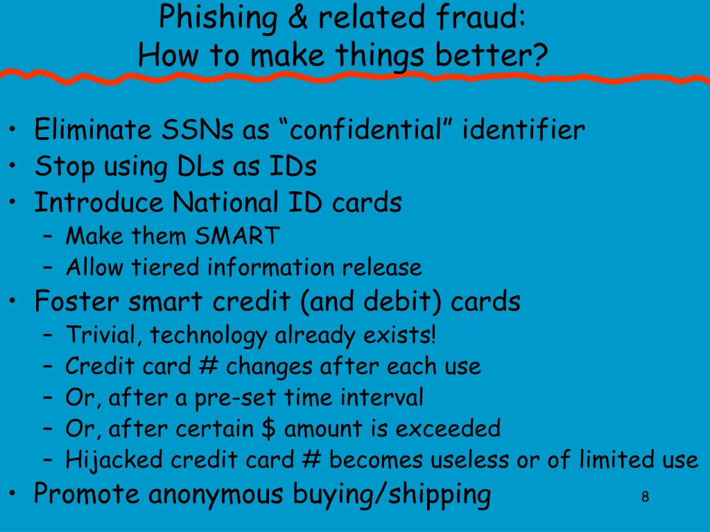 Phishing & related fraud: