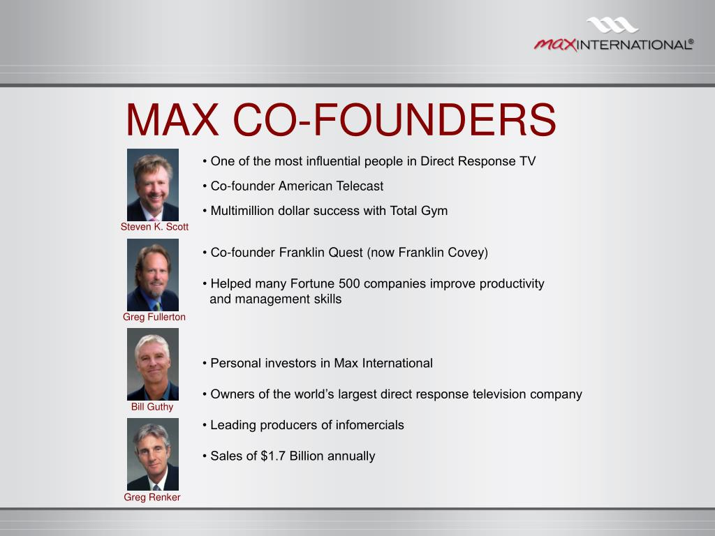 MAX CO-FOUNDERS