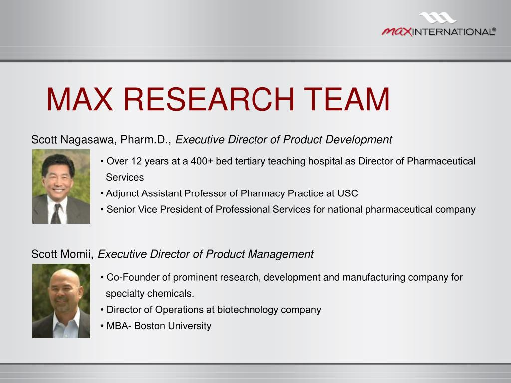 MAX RESEARCH TEAM