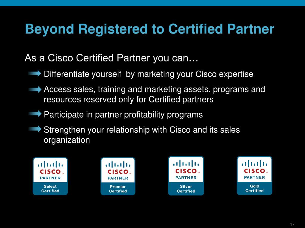 Beyond Registered to Certified Partner