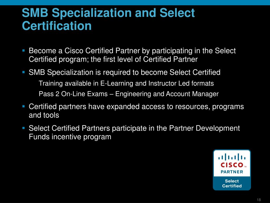 SMB Specialization and Select Certification