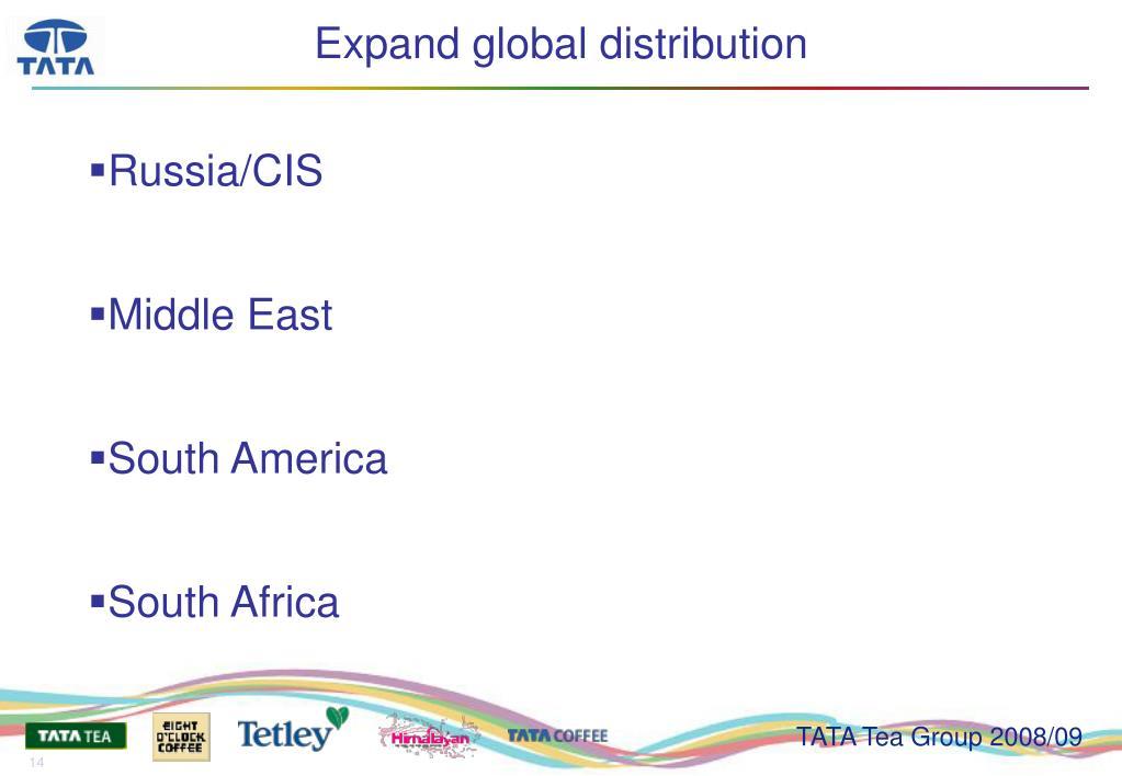 Expand global distribution