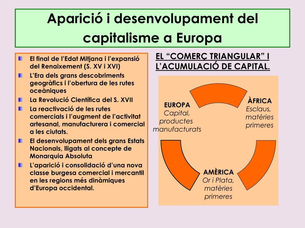 Aparició i desenvolupament del capitalisme a Europa