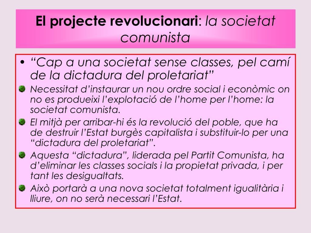 El projecte revolucionari
