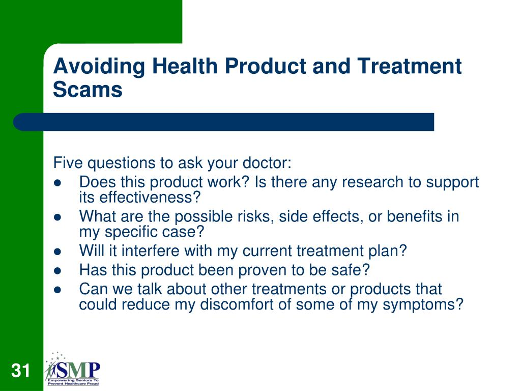 Avoiding Health Product and Treatment Scams