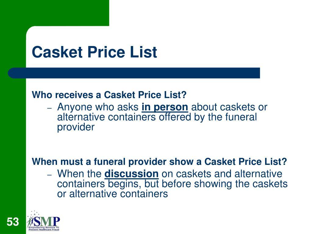 Casket Price List