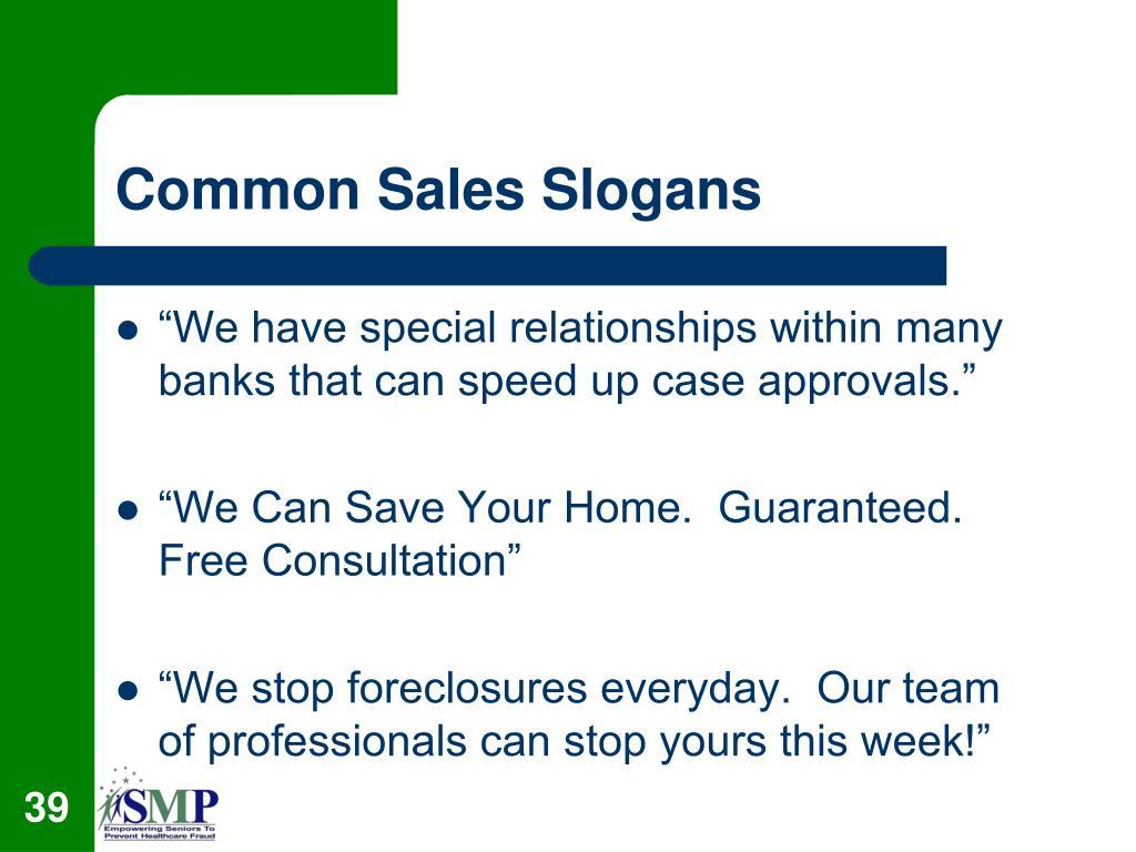 Common Sales Slogans