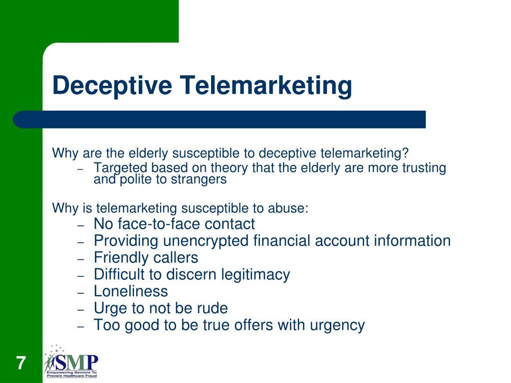 Deceptive Telemarketing
