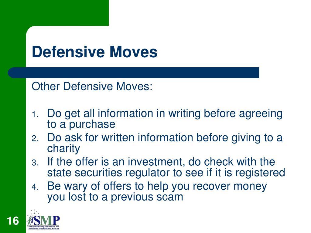 Defensive Moves