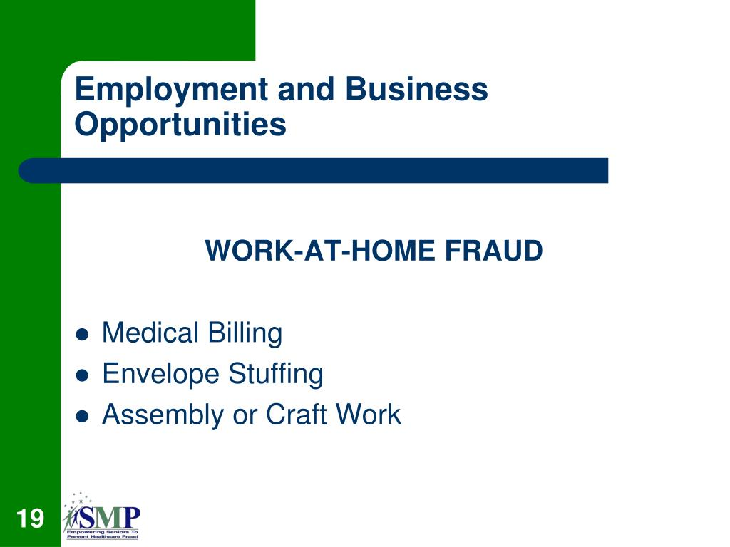 Employment and Business Opportunities
