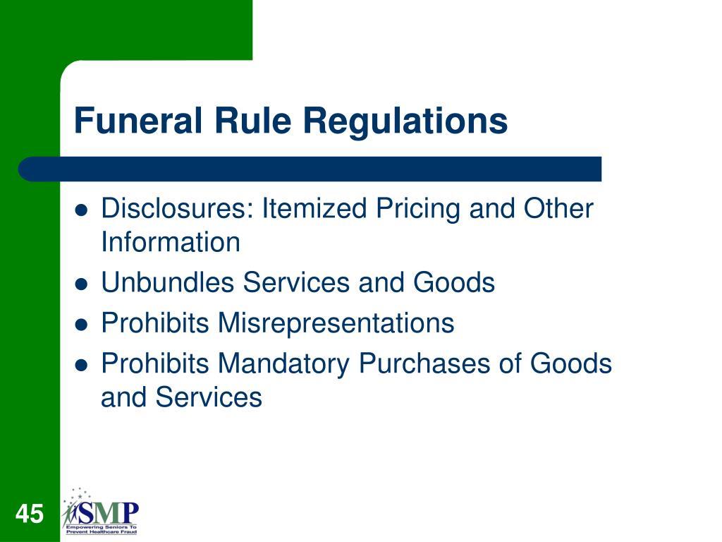Funeral Rule Regulations