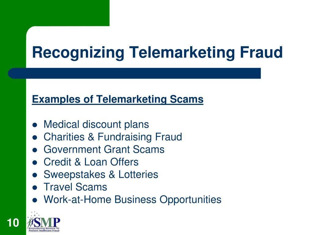 Recognizing Telemarketing Fraud