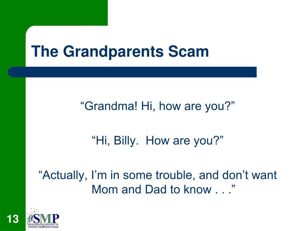 The Grandparents Scam