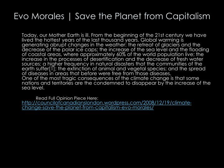 Evo Morales | Save the Planet from Capitalism