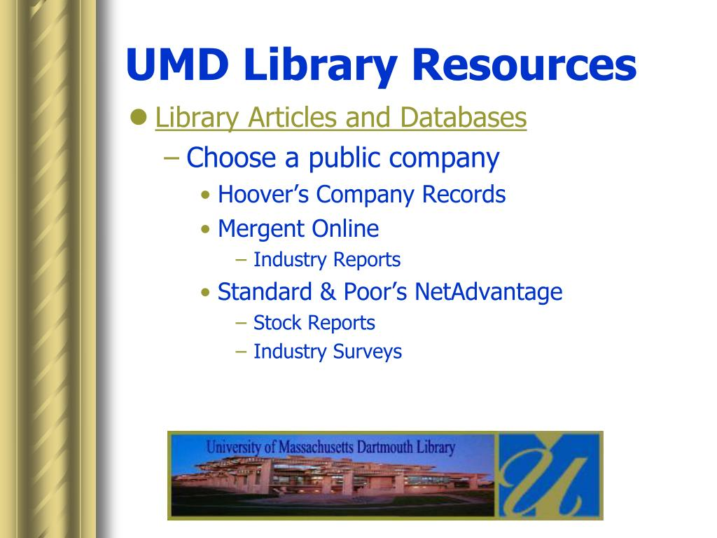 UMD Library Resources