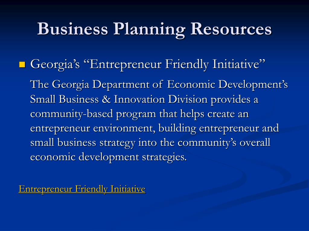Business Planning Resources